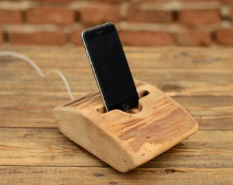 iPhone stand, Wooden docking station, iPhone 7 stand, Wood iPhone 7 Plus dock, iPhone holder, Samsung S7 stand, Birthday gift