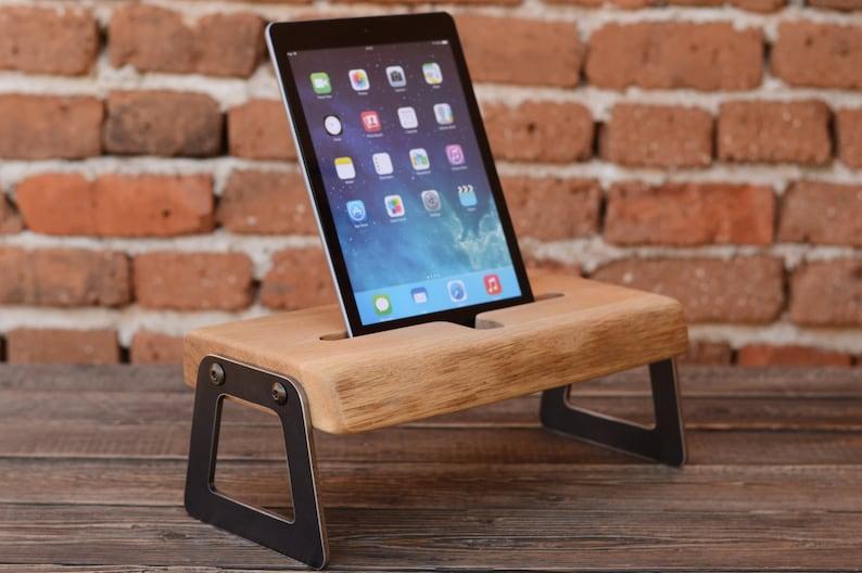 iPad stand iPad station Modern iPad holder Gift ideas iPad wooden stand iPad dock