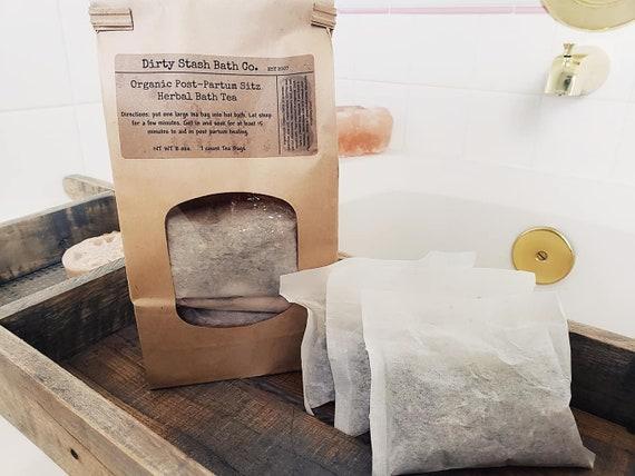 Organic Post-Partum Herbal Sitz Bath Tea for healing One Week 7 Count