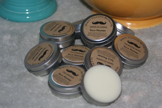1 oz tin Solid Perfume tin Lemon Lavender essential oil