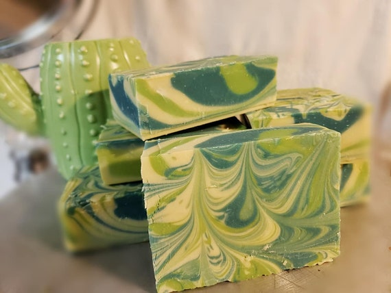 Organic Coconut & Hemp cold process soap Over 6 ozs Baja Cactus Flower