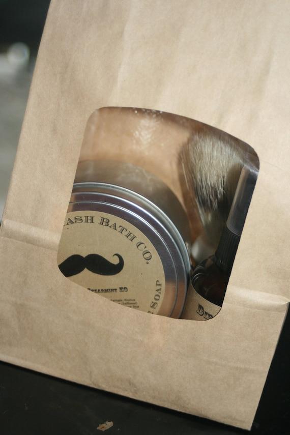 100% Natural Men's Shave Kit Mint Thyme Essential oil