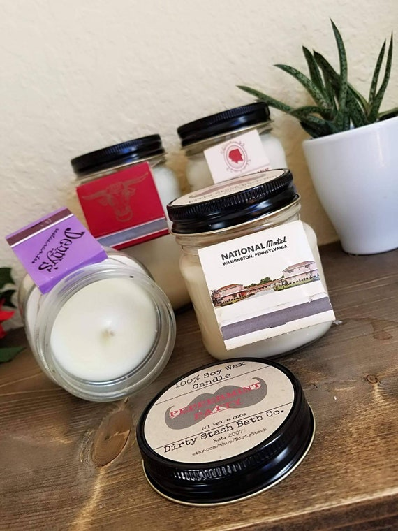 Buy 3 Get 1 Free 100% Soy 8 oz Candle Pick your Essential oil