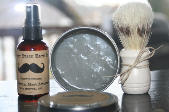 100% Natural Men's Shave Kit Energizing Herbal Essential oil