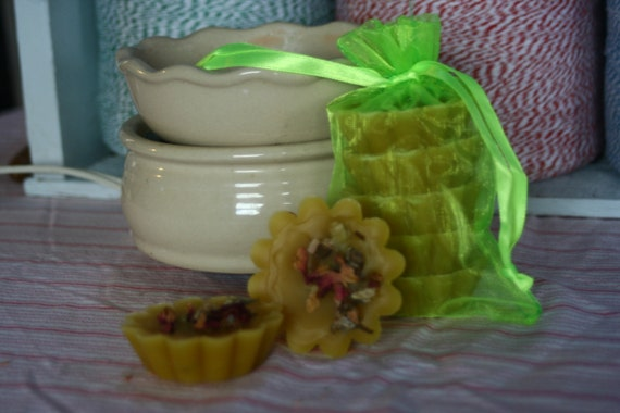 Made with Organic Beeswax- Melts 4 ozs Geranium essential oil