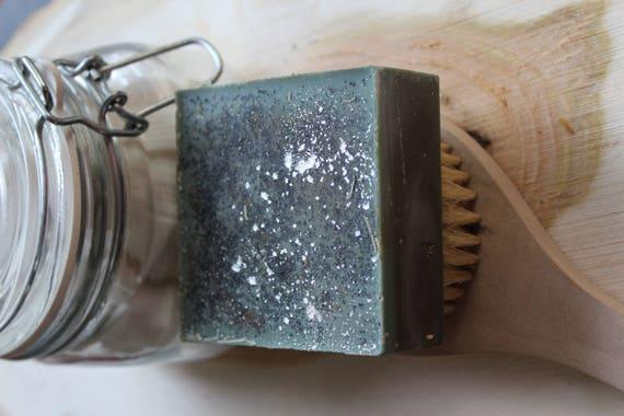 Men's Blue Cashmere Organic Coconut & Avocado Soap 5.5 ozs