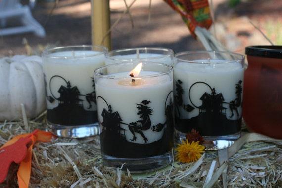Absinthe 8 oz Soy wax Candle in Halloween Jar
