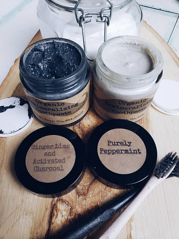 Natural Remineralizing Toothpaste Grapefruit 4 or 6oz  Organic ingredients Optional Activated Charcoal