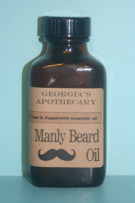 Manly Beard Oil made with Organic oils Absinthe Fragrance 3 ozs