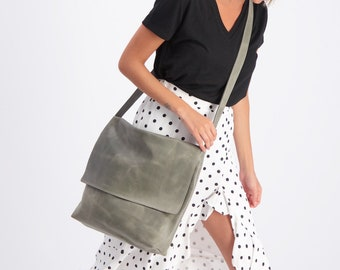 Crossbody Bag, Satchel Bag, Leather Messenger Bag, Laptop Bag Leather, Personalized Bag, Travel Bag For Women, Large Crossbody Purse, Mayko