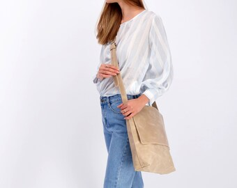 Leather Bag, Leather Messenger, Woman Purse, Shoulder Bag, Crossbody Bag, Laptop Bag, Handbag Woman, Leather Travel Bag, Personalize Bag