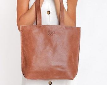 4f0facc5a0 Brown Leather Tote