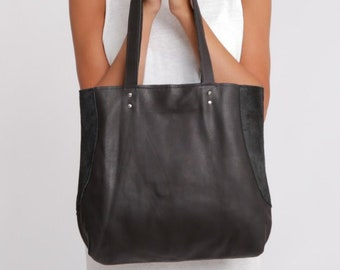 Leather tote - Soft leather bag - Everyday leather bag - Miri bag