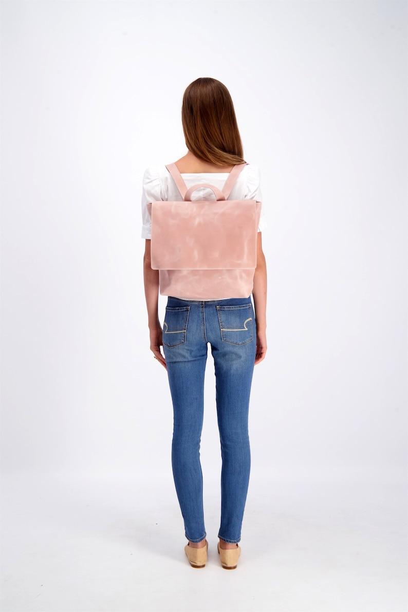 Leather Backpack Women Leather Backpack Large Backpack image 0
