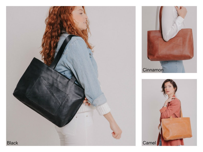 Black Leather Tote Large Leather Tote Leather Tote Bag Leather Shoulder Bag Laptop Tote Laptop Bag Personalize Tote Bag Women,Work Bag