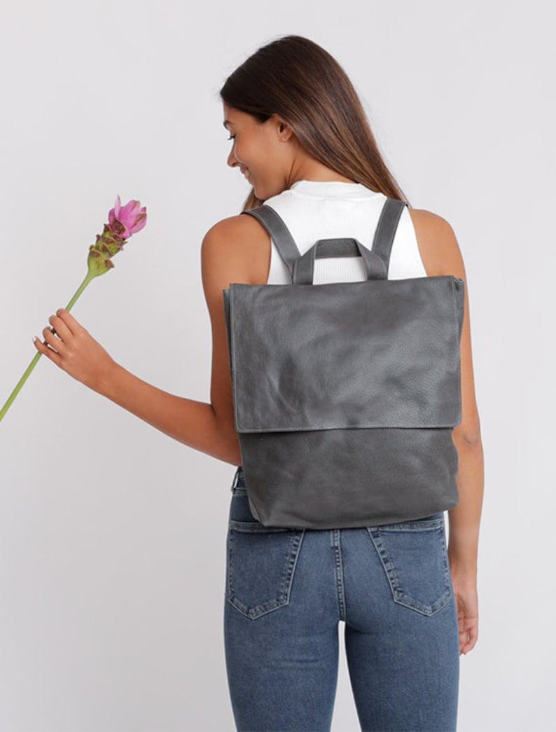 5a2145611b8f Leather Backpack Women Diaper Bag Laptop Backpack Messenger