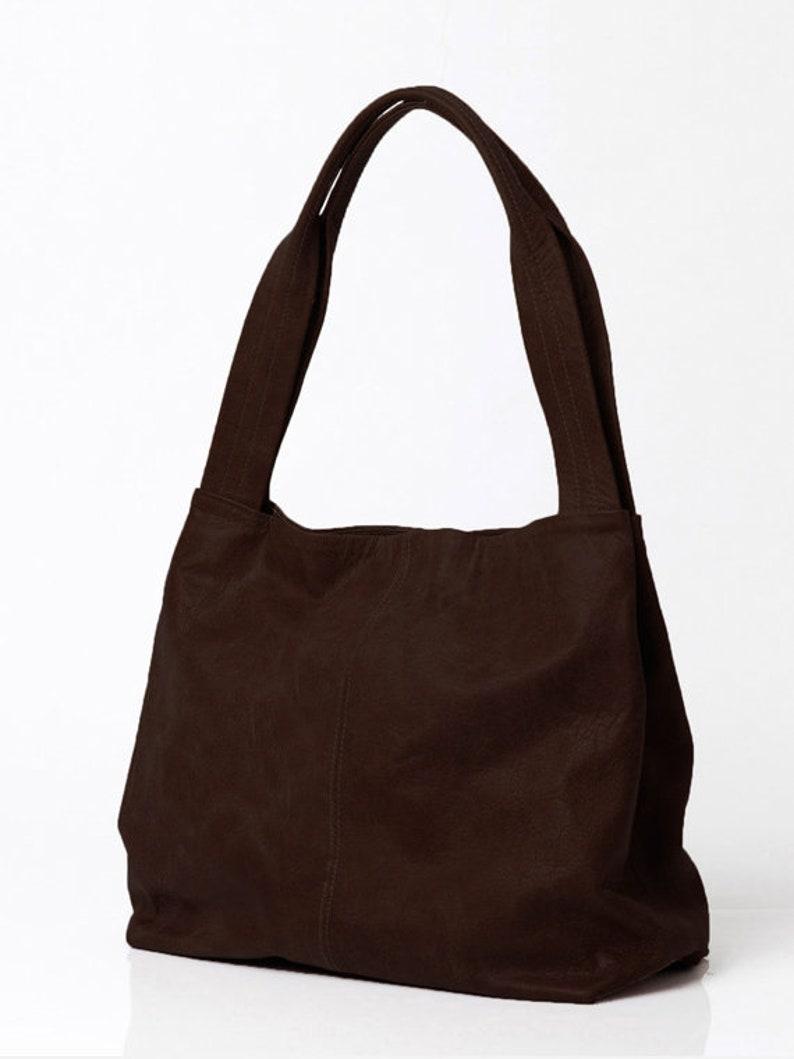 Over Size Bag Big Bag Brown Leather Bag Shoulder Bag with Magnetic closer TAMI BAG Women Soft Leather Bag Brown Leather Tote Bag
