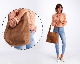 Brown Leather Bag - Big Leather Handbag - Weekend Bag - Soft Leather Bag - Tote Bag - Women Bag - Shoulder Bag - Carry All Bag - TAMI  BAG