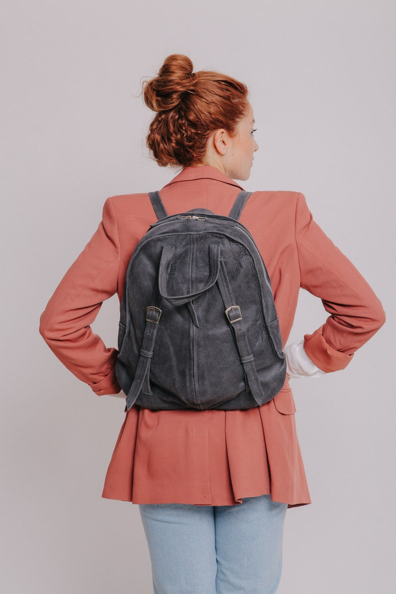Leather Backpack Purse Backpack Purse Convertible,Tote Leather Backpack Women Gray Leather Backpack Rucksack Backpack Leather Backpack