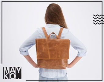 Leather Backpack Women | Large Backpack Women Personalized Leather Gift Women | Laptop Bag | Minimalist Backpack | Leather Back Pack | Bag