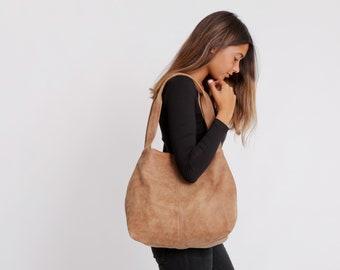 Brown Leather Bag, Soft Leather Purse, Tote Bag, Women Bag, Large  Leather Tote, Oversized Bag,  Shoulder Bag, TAMI TOTE