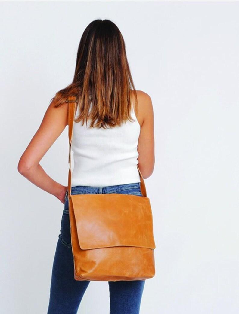 Camel Leather Messenger Bag Womens Satchel Leather Cross  69d145e33