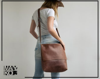 Leather Messenger Bag | Brown Leather Cross body Bag | Leather Laptop Bag | Leather Satchel | Personalized Leather Bag | Messenger Bag | Bag