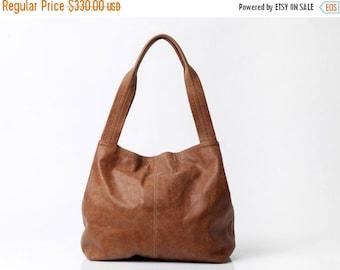 Brown Leather Bag, Women Soft Leather Bag, Big Bag, Shoulder Bag with Magnetic closer, Over Size Bag, Brown Leather Tote Bag, TAMI BAG