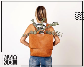 Leather Backpack | Backpack Purse | Leather Backpack Women | Laptop Bag | Personalized Leather Bag | Leather Diaper Bag | Gift For Her | Bag