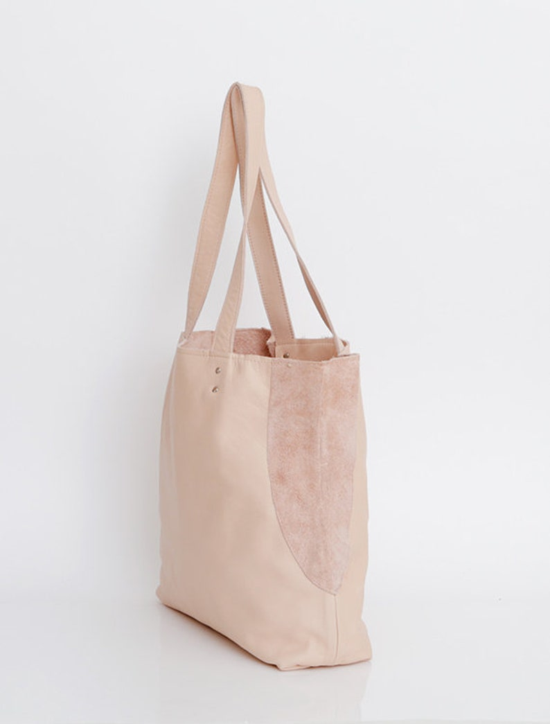 Soft Leather Bag MIRI Bag Handmade Leather Purse Tote Bag Nude Leather Bag Leather Tote Bag Shoulder Bag Women Bag Leather Bag