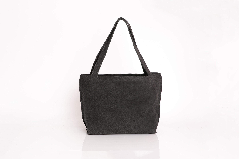 28dd1116b6 Distressed Black Leather Tote Bag Soft Leather Bag Zipper