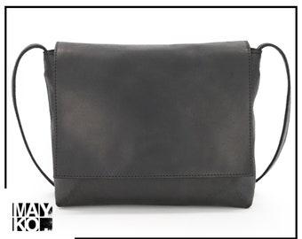 Leather Cross body Bag | Women Leather Messenger Bag | Leather Satchel | Small Leather Bag | Leather Shoulder Bag | Minimalist Leather Bag