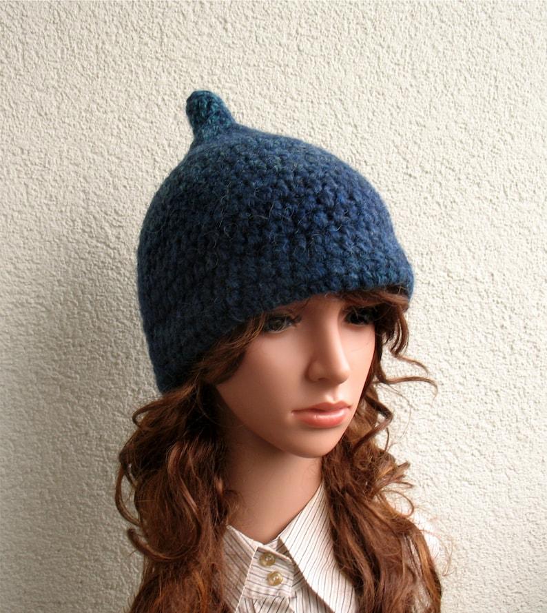 5279dd9b2 Womens winter hat 100% Icelandic wool blue green natural Latvian sheep wool  ECO pure wool Teenager crochet hat cozy warm bulky hat girls hat