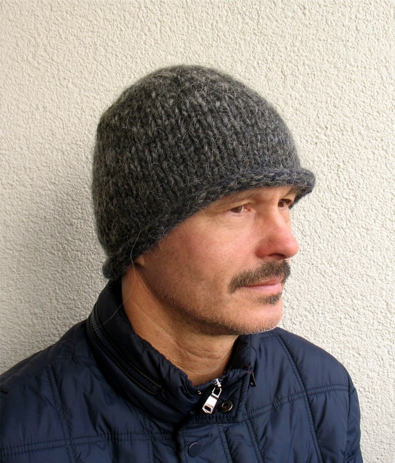 Mens winter hat 100% natural icelandic wool and sheep wool  7243a5ca14a