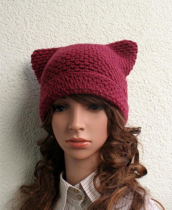 Pink Pussy Hat Cat Hat Kitty Hat Crochet Kitty Hat Crochet Cat Hat Women/'s Crochet Hat Women/'s Accessories. Winter Hats
