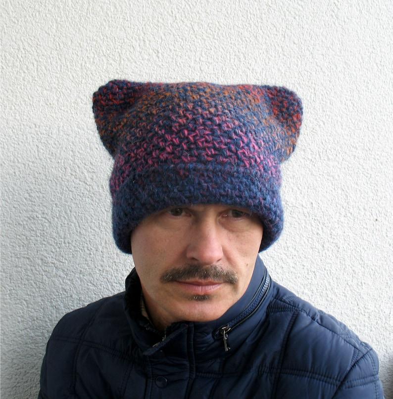 Mens Inverno Cappello 100 Lana Eco Pussycat Mens Arcobaleno Etsy