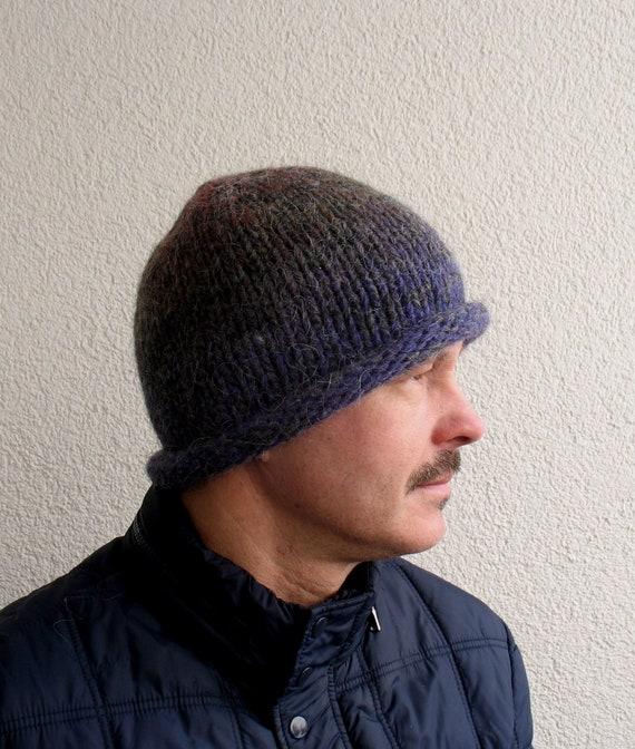 4e77aa55447 Mens winter hat 100% natural icelandic wool and sheep wool