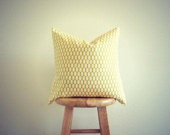 Gold and White Geometric Pillow Cover (18X18 inches)   Modern Nursery Pillow Cover   GeometricElectric Handmade Modern Home Decor