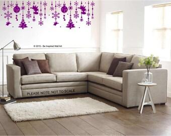 Christmas Garland -  Wall Art Sticker
