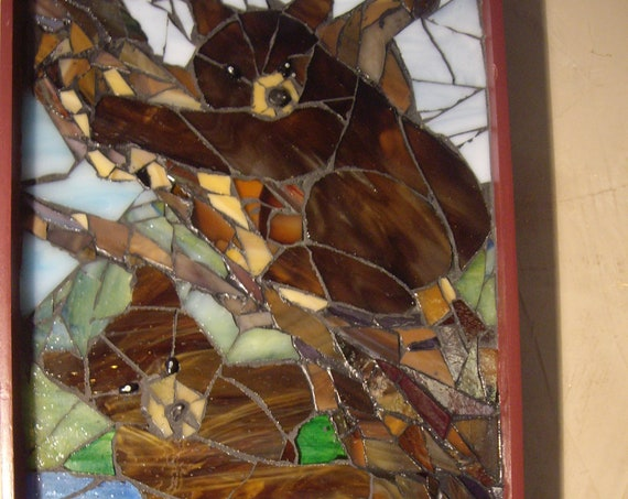 Glass Mosaic Grizzly Bear Brothers