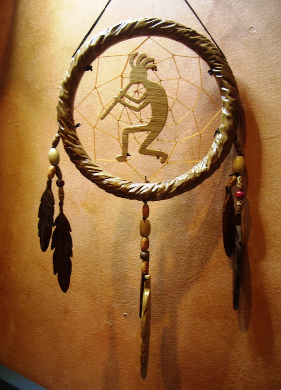 Handmade Kokopelli Dreamcatcher
