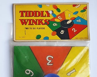 UK Vintage 1960s Toys Sealed Penny Pocket Money Toy Tiddly Winks Sixties Packaging 60s Childhood Nostalgia Fun Small Games