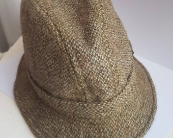 5b42d07cac4 Vintage Harris Tweed Greenwoods Country Hat Menswear Made in Britain  Countryside Gentleman Grey Browns Size Small Medium 7 21.5