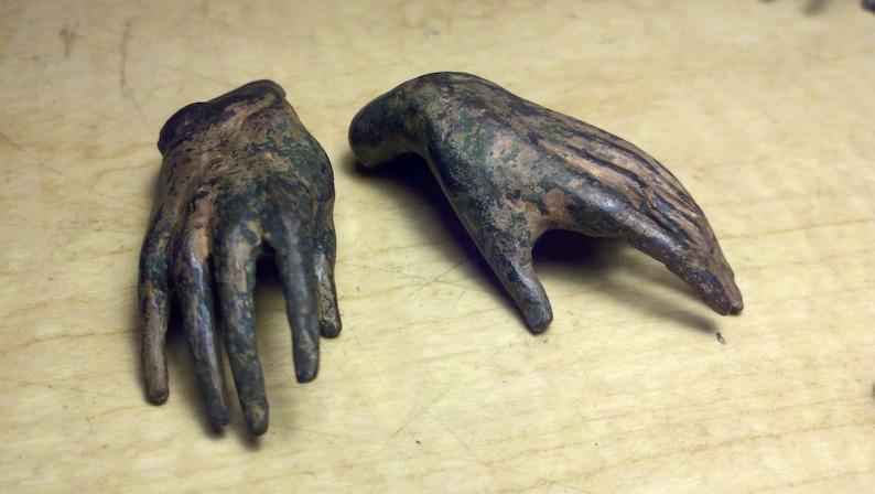 Bronze sculpture Small Hands image 0