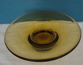 Vintage Murano Sommerso Glass Dish - 1960 39 s - Venetian Glass Company Blackpool - Franco Toffolo - Amber and Clear Colourway