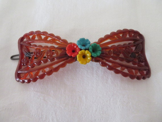 Vintage Miss Jayne Hair Grip  Slide One for the Hat Collectors Felt Hat with Roses /& Yellow Bow Hair Accessory