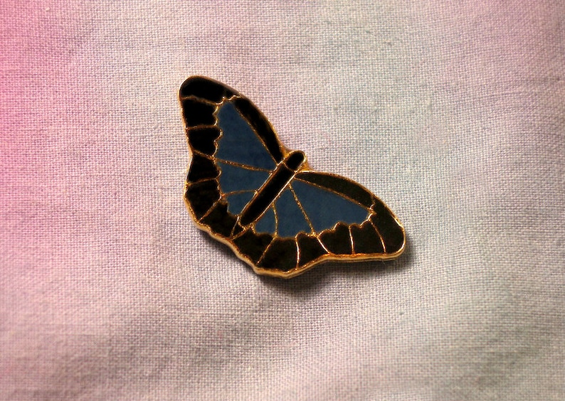 Night Blue Limenitis Arthemis Pin Gift Butterfly Butterfly Clutch Gold Plate