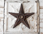 19th Century Antique Cast Iron Masonry Anchor Star Architectural Building Tie