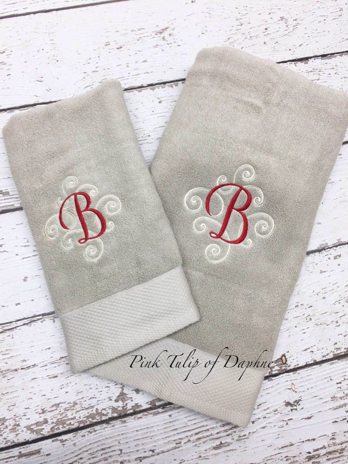 Monogrammed Towels Wedding Gift Personalized Towels Bath And Hand