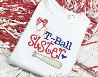 Tball sister, Tball Sister bodysuit, Tball sis shirt, baseball sister shirt, baseball sister, baseball heart
